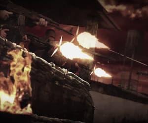 apocalypse, fiery, and guns image