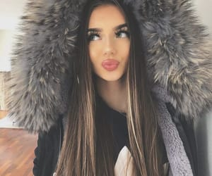 hair, winter, and fashion image