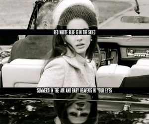 lana del rey, national anthem, and black and white image