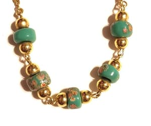 bead necklace, green necklace, and etsy image