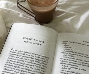 book, happiness, and coffee lover image