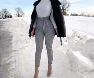 checked, cold, and fashion image