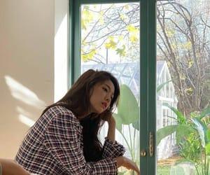 asian, green, and korean girl image