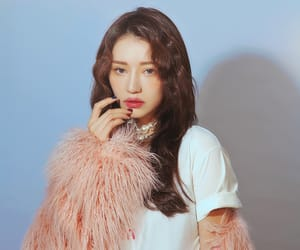 coat, lipstick, and makeup image