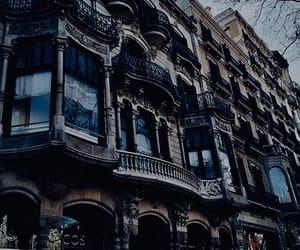blue, architecture, and dark image