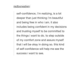 confidence, quote, and selflove image