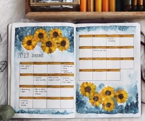 art, sunflowers, and writing image