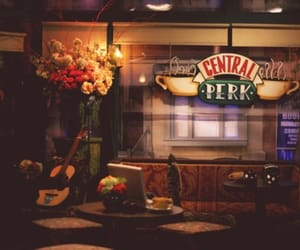 chandler, central perk, and friends image