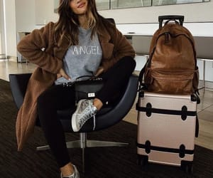 girl, airport, and fashion image