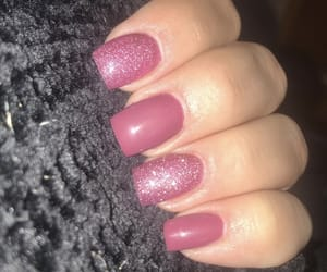 nails, pink, and manucure image