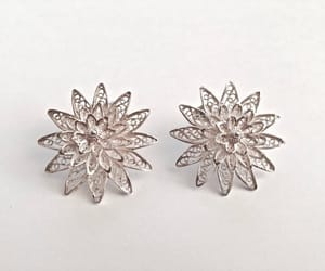 etsy, sterling silver, and filigree earrings image