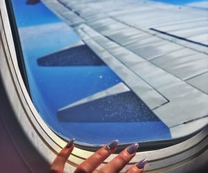 girls, nails, and plane image