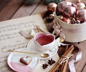 holidays, ornaments, and musical score image