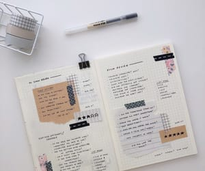 aesthetic, inspiration, and bullet journal image