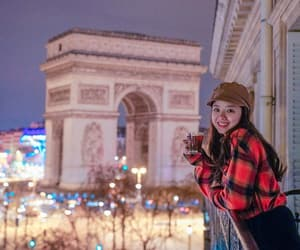 arc de triomphe, great view, and lights image