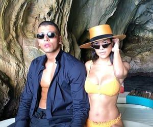 kourtney kardashian, younes bendjima, and fashion image