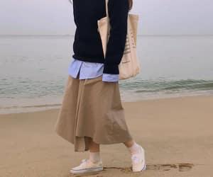 asian fashion, asian girls, and beach image