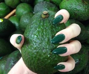 nails, green, and fruit image