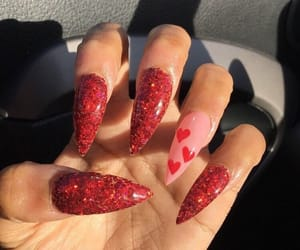 nails, red, and hearts image