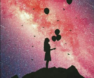 balloon, space, and girl image