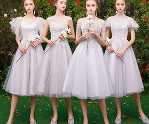 girl, wedding party dress, and short dress image