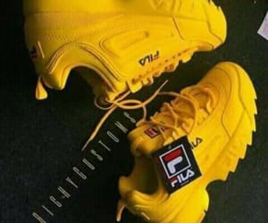 Fila, shoes, and yellow image