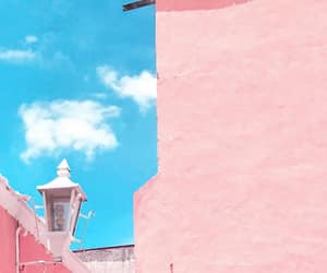 architecture, colors, and pink image