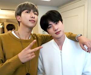jin, bts run, and rm image