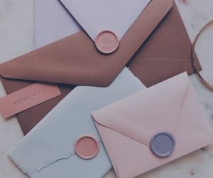 Letter and pink image