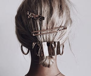 hair, girl, and gold image