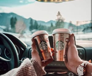coffee, starbucks, and winter image