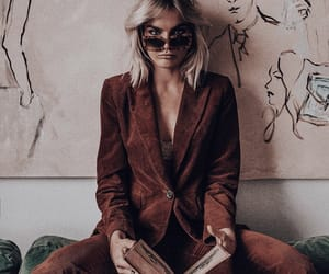 art, blonde hair, and fashion image