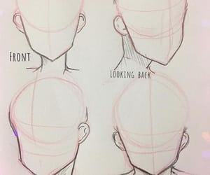 reference, drewing, and face position image