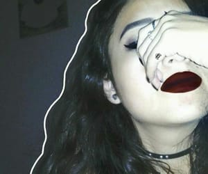 Chica, makeup, and red lips image