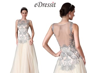 formal dresses, lace evening dress, and prom gown image