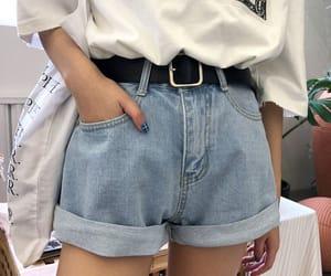 aesthetic, denim, and denim shorts image