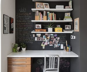chalkboard, office, and studying image