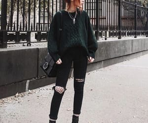 blogger, model, and fall image