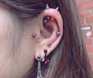 beauty, ear, and earrings image