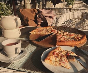 pizza, food, and dinner image
