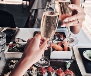 champagne, luxury, and friends image