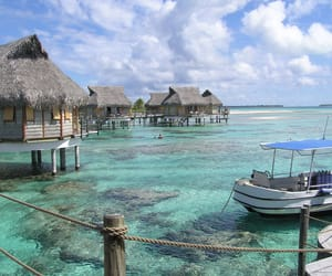 bora bora, paradise, and travel image