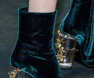 boots, green velvet, and gucci image