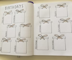 birthday, planner, and bujo image