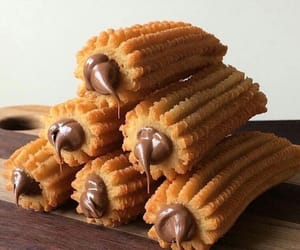 churros, chocolate, and food image
