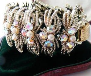 etsy, high fashion, and rhinestone bracelet image