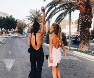 back, bff, and beach image