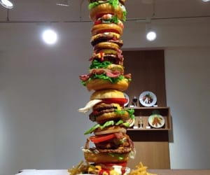 burger, burgers, and chips image