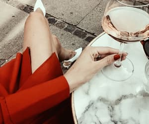 drink, chic, and red image