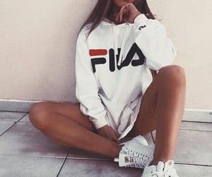 fashion, Fila, and sportstyle image